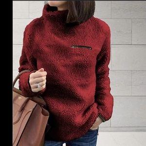 Plush Sherpa Fleece Pullover Sweater